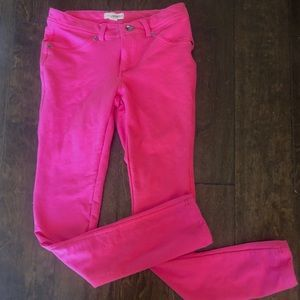 Bright Pink Fitted Skinny Jeggings Small